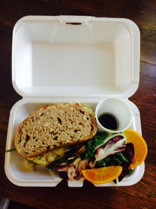 chickpea salad sandwich ... one of our customers' favourite dishes!
