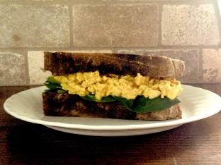 eggless salad sandwich -- a vegan's take on the classic summer bite.