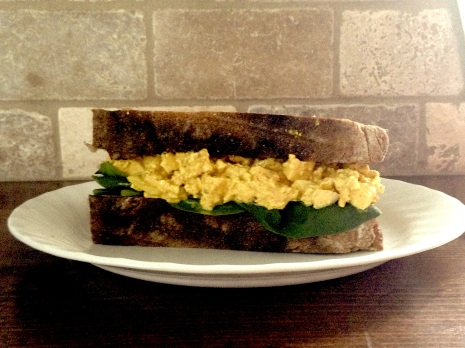 eggless salad sandwich -- a vegan's take on the classic summer bite.